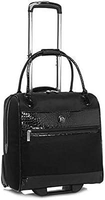 BLACK JOY ELite Croco-Embossed Couture TuffTech Wheeled RFID Travel Bag