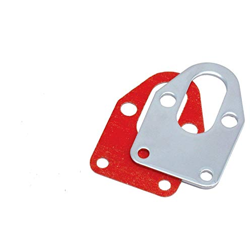 (Tokwin Chrome Fuel Pump Mounting Plate With Gasket for Chevy SB 283 305 327 350 383 400)