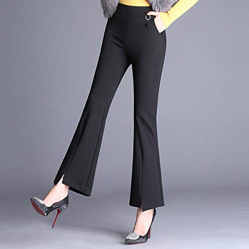 Pantalons Noir Valin Vfq331 Bootcut Vrac En Pantalon Grande Femme Taille 6ww5vqxznf