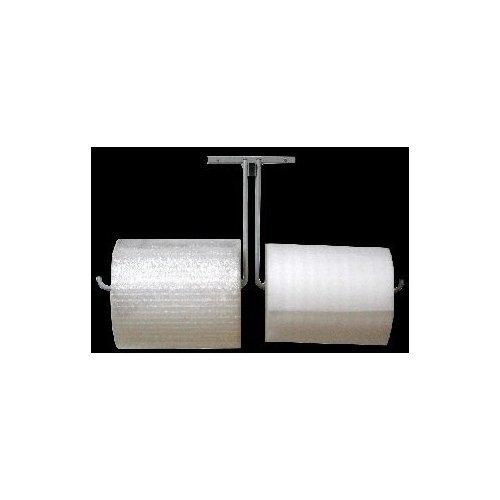 36' Double Arm Wall Mount Bubble Wrap & Foam Cushioning Roll Dispenser