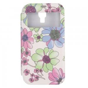 Simple Sunproof Automatic Wake/Sleep Smart View Flip PU Leather and TPU Protective Case for Samsung S4 i9500 XY-169