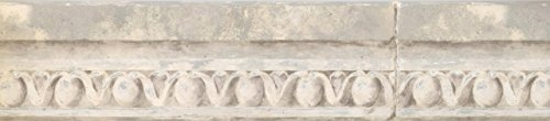 - Vintage Faux Crown Molding Distressed White AO6918B Wallpaper Border