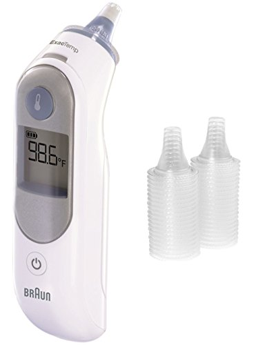Braun Thermoscan Ear Thermometer with ExacTemp Technology With Braun Lens Filter Refills (KAZ (Thermometer Lens)