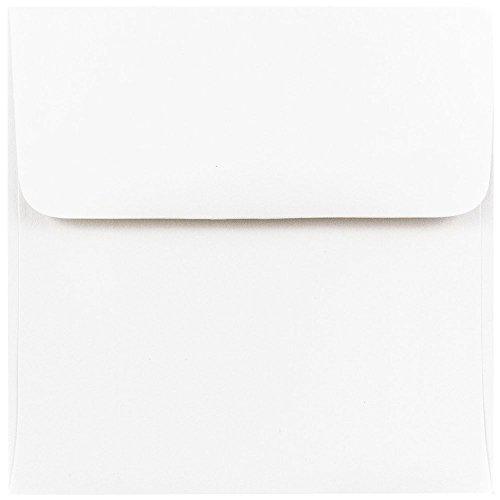 JAM PAPER 4.5 x 4.5 Square Invitation Envelopes - White - 25/Pack