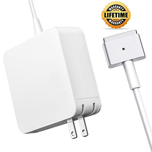 Mac Book Pro Charger, AC 85W Magsafe 2 T-Tip Power Adapter Charger Replacement for Apple MacBook Pro 13 inch/15inch/17inch (After Mid 2012)