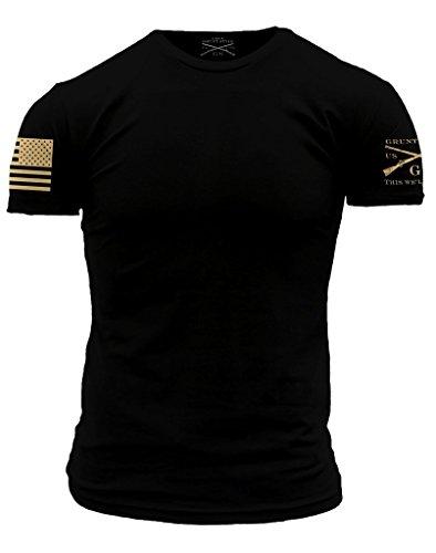 Grunt Style Basic Men's T-Shirt (Large, Combat Black)