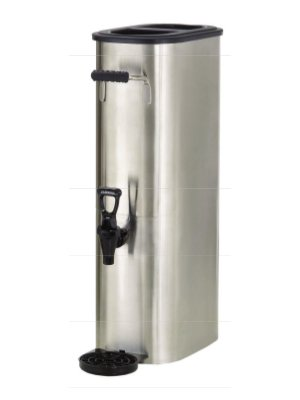 Boswell Commercial Equipment TD5-SQ Rectangular Non-Heated Stainless Steel Tea Dispenser, 5 gal, 14'' Length, 8'' Width, 26'' Height by Boswell Commercial Equipment