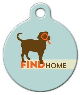 Find Home – Custom Pet ID Tag for Dogs and Cats – Dog Tag Art – LARGE SIZE, My Pet Supplies