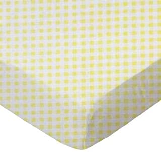product image for SheetWorld Crib Jersey Knit, Made In USA, Fitted Toddler, Yellow Gingham Jersey