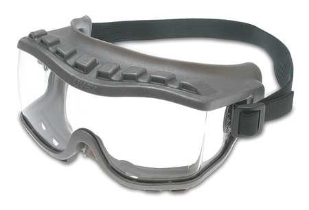 Uvex S3800 by Honeywell Strategy Direct Vent Over The Glasses Goggles With Gray Frame, Clear Uvextra Anti-Fog Lens And Fabric Headband (1/EA)