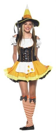 [Kandy Korn Witch Costume - Teen Medium/Large] (Lady Reaper Adult Plus Size Costumes)