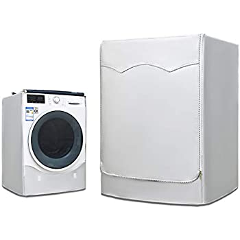 AKEfit Washing Machine Cover Waterproof Dustproof Washer/&Dryer Cover For Front Loading Machine Thicker Zipper Easy to use