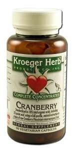 Cranberrry Complete Concentrate Kroeger Herbs 90 VCaps
