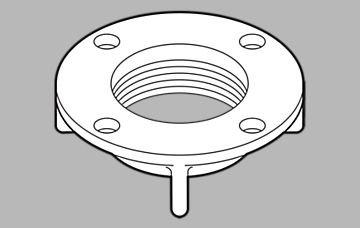 Delta Faucet RP26149 Innovations, Locknut (H216rb Handles)