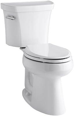 Kohler K-3889-U-0 Highline Comfort Height 1.28 gpf Toilet, 10-inch Rough-In, Insuliner, White