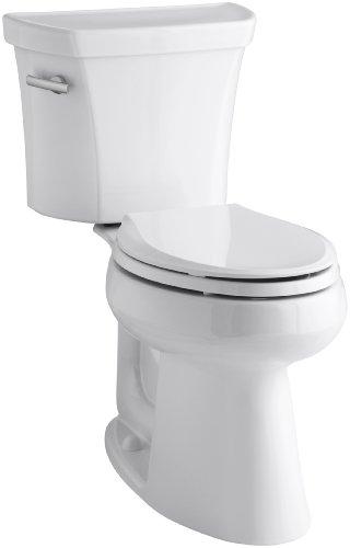 Highline Comfort Height Toilet - Kohler K-3889-U-0 Highline Comfort Height 1.28 gpf Toilet, 10-inch Rough-In, Insuliner, White