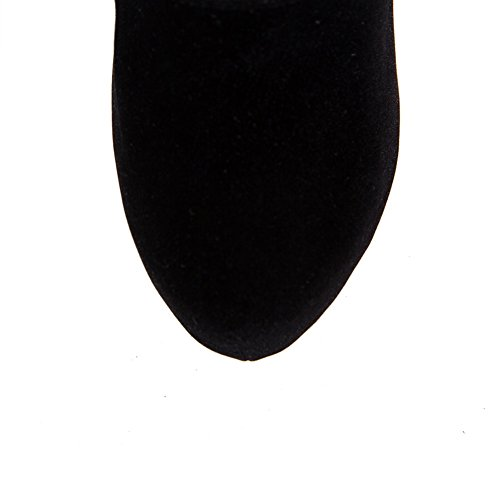 BalaMasa Womens Stiletto Back Zipper Platform Frosted Boots Black pXK2oY