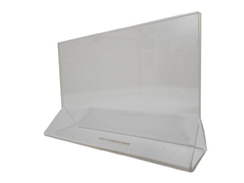 Sign Holder 6 x 4 Clear Acrylic Table Tent sold by case (10 pcs) (Desktop 1 Sign 4in)