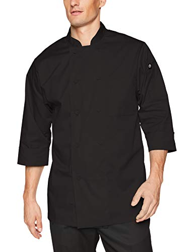 Chef Works Men's Morocco Chef Coat, Black, 3X-Large