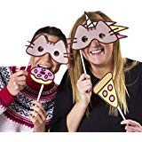 Pusheen The Cat Photobooth Kit - 24 card props, 30 prop straws and sticky pads -