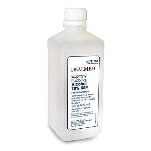 Dealmed Isopropyl Rubbing Alcohol 70% USP, First Aid Antiseptic, 16 fl  oz