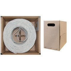 Dealsjungle CAT5E, STP, Bulk Cable, Solid, Shielded Plenum, 350MHz, 24 AWG, White, 1000 ft - 25' Pink Cat5e Patch