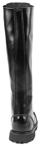 30 Ranger UK Gothic Black Combat Hole Boots O8qE8fwC