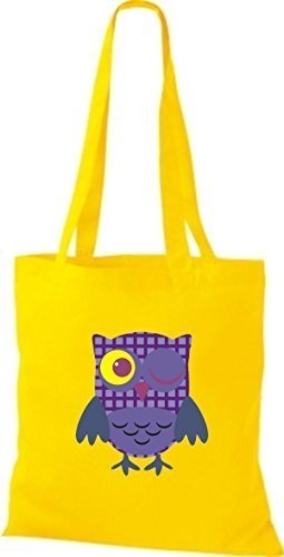 Shirtinstyle - Bolso de tela de algodón para mujer amarillo - amarillo
