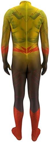 De Flash Cosplay Kostuums Kind Volwassen Halloween Carnival Superhero Bodysuit Spandex/Lycra 3D Print Onesies Kostuum Voor Verjaardagscadeau Party,Adult/150~160cm