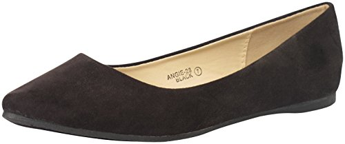 Bellamarie+Angie-28+Women%27s+Classic+Pointy+Toe+Ballet+Flats%2CBLACK%2C7