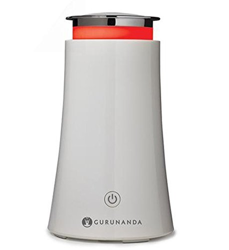 GuruNanda Essential Oil Diffuser 100ml White Tower Aromatherapy Ultrasonic Diffuser, Cool Mist Humidifier with 7 Color LED Lights + Waterless Auto Shut-Off for Bedroom Home Office Kitchen Yoga Studio by GuruNanda