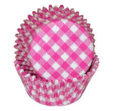 - Hot Pink Gingham Cupcake Baking Liners Standard Size 50 count