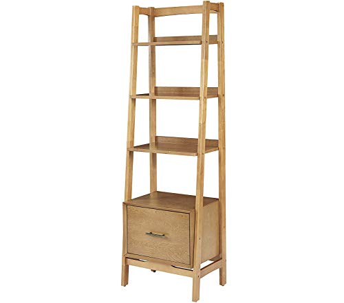 Wood & Style Small Etagere Bookcase - Acorn Decor Comfy Living Furniture Deluxe Premium Collection ()