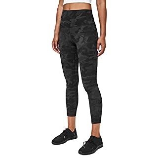 Lululemon Align II Stretchy Yoga Pants - High-Waisted Design, 25 Inch Inseam, Incognito Camo Multi Grey, Size 10