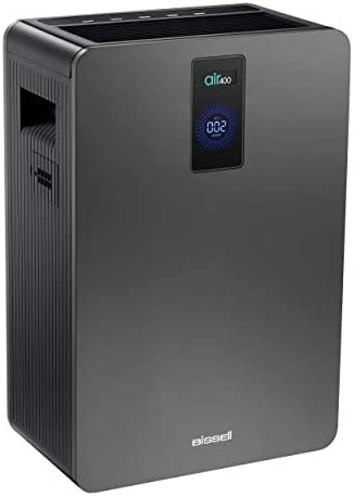 Bissell air400 Professional Air Purifier with HEPA and Carbon Filters for Large Room and Home, Quiet Bedroom Air Cleaner for Allergies, Pets, Dust, Dander, Pollen, Smoke, Hair, Odors, Smart