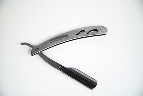 Barber-Accent-Professional-Straight-Edge-Razor-Durable-Stainless-Steel-Blade-for-Close-Comfortable-Shaves-Includes-20-Blades-and-Genuine-Leather-Carrying-Case-Black