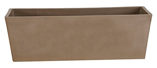 "Arcadia Garden Products PSW U45TP Simplicity Window Box, 17.5"" x 7"" x 6"", Taupe"