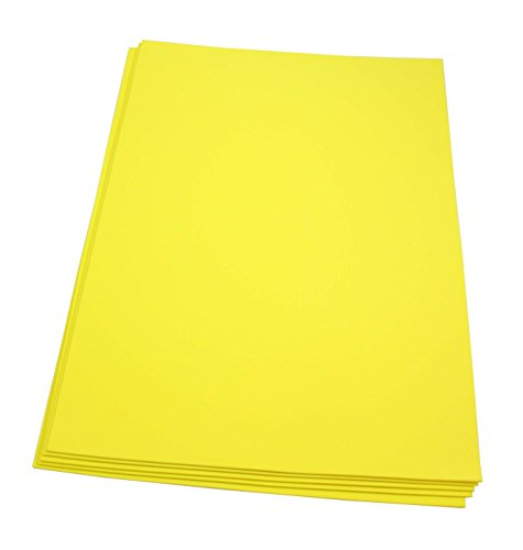 Craft Foam Sheets-12 x 18 Inches - Yellow - 5 Sheets-2 MM Thick