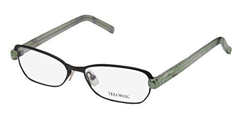 Vera Wang V301 Womens/Ladies Designer Full-rim Eyeglasses/Eyeglass Frame (50-14-135, Black / Green - Eyeglasses Hingeless