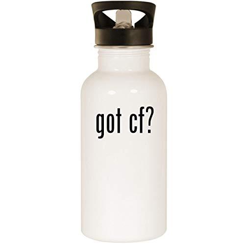 got Cf? - Stainless Steel 20oz Road Ready Water Bottle, White