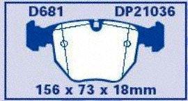 EBC Brakes DP21036 Greenstuff 2000 Series Sport Brake Pad