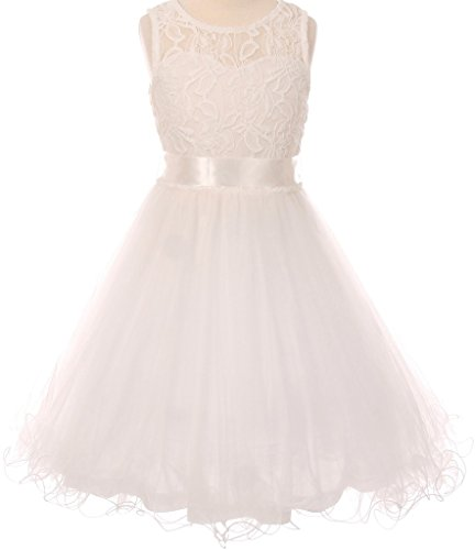 Ivory Embroidered Tulle - 7