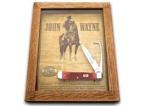 Case John Wayne Barnboard Equestrian's Knife Commemorative