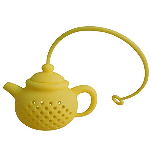 Dergo ☀Tea Brew Details About Teapot-Shape Tea Infuser Strainer Silicone Tea Bag Leaf Filter Diffuser (E)
