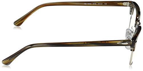 Grey Brown Ray de Unisex Marrón Stripped Ban Clubmaster Adulto Monturas Gafas SzS6xAqH