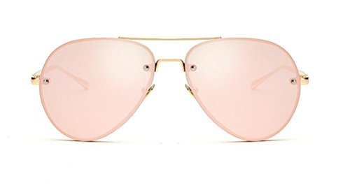 GAMT Fashion Aviator Style Sunglasses For Women Metal Frame Colored Lens Gold-Barbie - Rose Sunglasses For Sale Colored