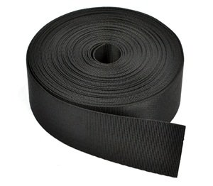 Black Nylon Strap (Cosmos 1 1/2 Inches Wide 10 Yards Black Nylon Heavy Webbing Strap with Cosmos Fastening Strap)