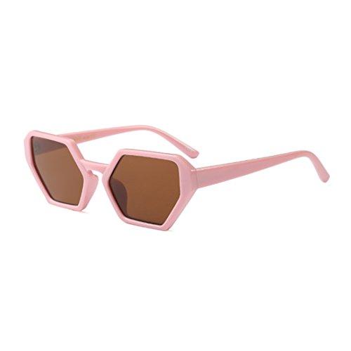 sol de gafas hombres de Aiweijia mujeres gafas Nuevo gafas polígono Retro Vintage tamaño Té gran Rosa de moda diseño sol Iq6OwSCq