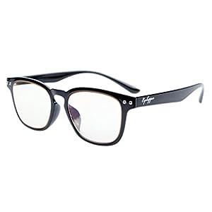 Eyekepper Vintage Flex Lightweight Plastic Frame Computer Glasses Readers Eyeglasses Black +1.25