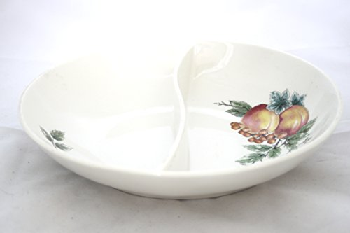 Syracuse Wayside Oval Divided Vegetable Bowl 10
